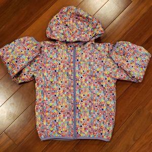 Columbia girl fleece lined colorful jacket
